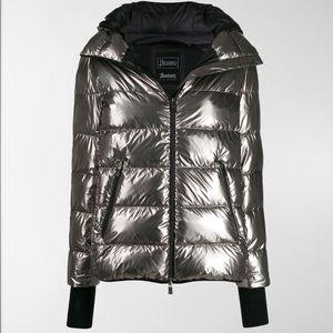 HERNO metallic effect puffer performance coat NWT